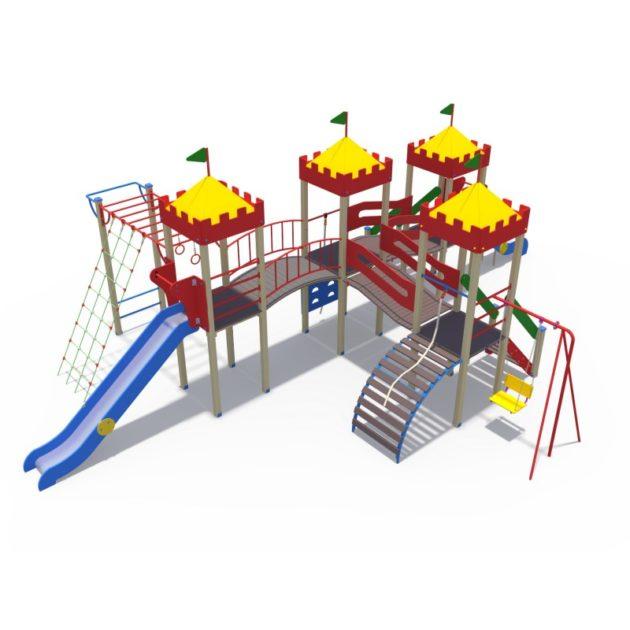 ДИО 02101 Детский игровой комплекс серии джунгли Маугли с металлическим скатом Н-1500