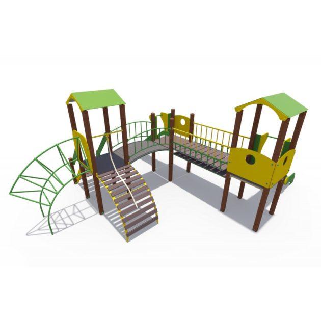 ДИО 04061 Детский игровой комплекс серии Браун Наш дворик Н-1200