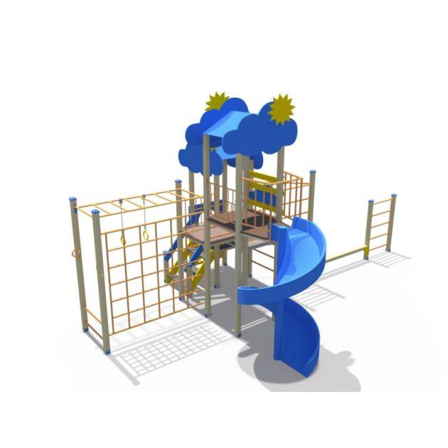 ДИО 04106 Детский спортивно-игровой комплекс с винтовым скатом Н-2000