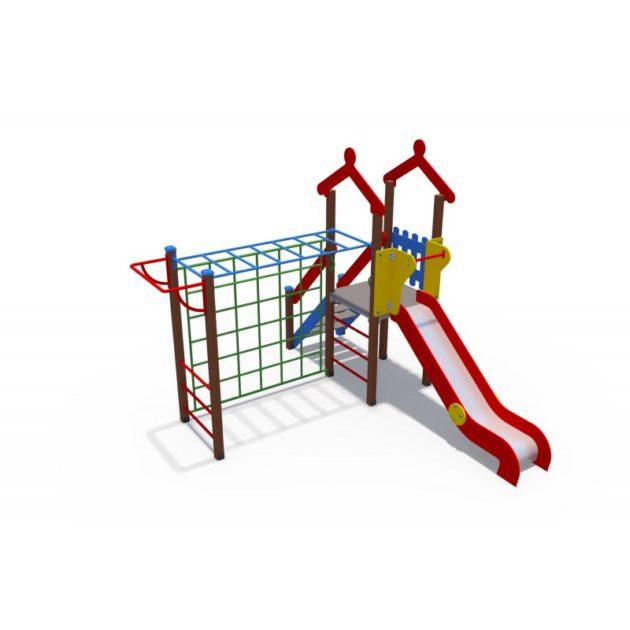 ДИО 04109 Детский игровой комплекс с металлическим скатом Н-1200