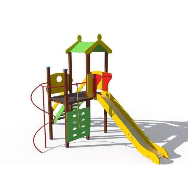 ДИО 04111 Детский игровой комплекс с металлическим скатом Н-1500