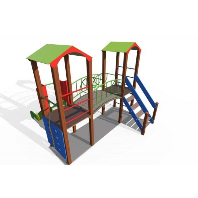 ДИО 13081 Детский игровой комплекс Опушка с металлическим скатом Н-1200